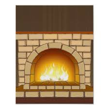 cozy fireplace poster zazzle