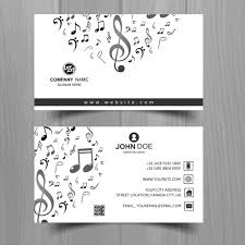 Business Card Music White Business Card With Musical Notes Vector Free Download