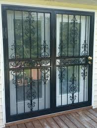 High Security Patio Doors 73x80 Model 547 Scroll High Security Patio Door Installed