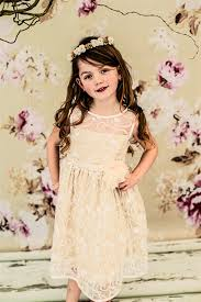taupe tulle lace flower dresses