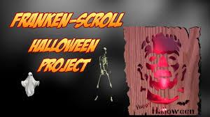 halloween woodworking project frankenstein silhouette scroll saw
