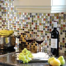 Kitchen Backsplash Peel And Stick Decorations Smart Tile Peel And Stick Groutless Backsplash