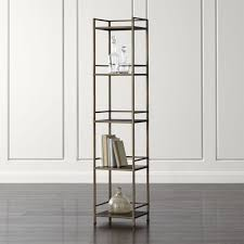 Glass Enclosed Bookcases Remi Small Bookcase Crate And Barrel