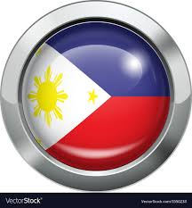 Singapore Flag Button Philippine Flag Metal Button Royalty Free Vector Image