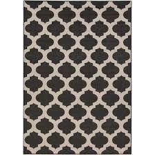 flooring modern trellis ink indoor outdoor rugs in black for
