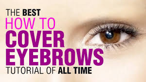 drag queen tutorial how to cover eyebrows youtube