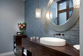 accessories round bathroom vanity mirrors with pendant lighting