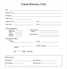 travel itinerary template word excel pdf format documents download