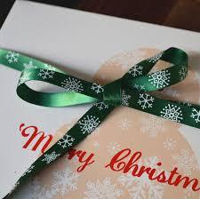 christmas gift wrapping supplies 9mm 5m christmas ribbon snowflake printing grosgrain and satin