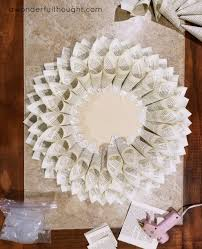 how to make a dahlia book page wreath a wonderful thought