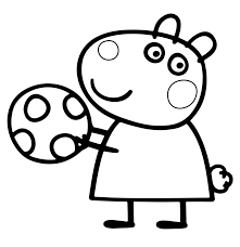 cartoon pig color by number printable coloring pages click the