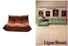 canape togo ligne roset le canapé togo par michel ducaroy meubles vintage design market