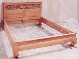 Platform Bed Headboard Banana Leg Platform Bed W Carving Headboard 1 Baliette Home