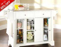 crosley kitchen cart island with stainless steel top in white