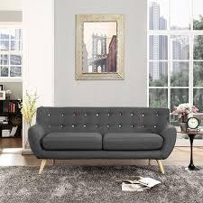 Charcoal Tufted Sofa by Amazon Com Modway Remark Sofa Gray Kitchen U0026 Dining
