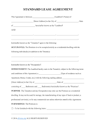 Rent Receipt Template Ontario Rental Lease Agreement Word Template Sales And Marketing