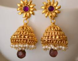 bridal jhumka earrings etsy your place to buy and sell all things handmade