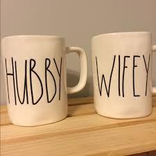 rae dunn mug magenta rae dunn hubby wifey cups mugs os from stacey s closet on