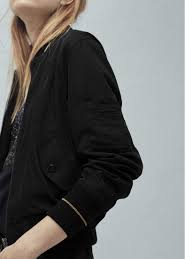 north face lixus jacket mango contrast trim bomber jacket in black lyst