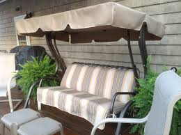 Patio Chairs With Cushions Decorating Loveseat With Red Lowes Patio Cushions Plus Table For