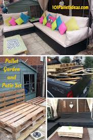Pallets Patio Furniture by Pallet Patio Furniture Ideas Tutorial