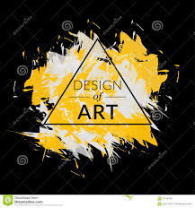 paint brush vector background with triangle frame and text design