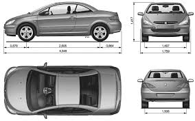 peugeot 307 cc car blueprints peugeot 307cc blueprints vector drawings