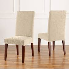 fit stretch jacquard damask dining room chair slipcover