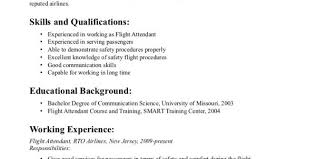 Resume Format For Flight Attendant Corporate Flight Attendant Resume Template Flight Attendant Resume