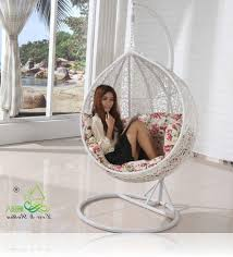 Hanging Chairs Outdoor Hanging Chairs For Bedrooms Modern Bestow Lounge Chair In White