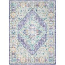 Purple And Turquoise Area Rug Surya Purple Area Rugs Rugs The Home Depot