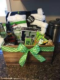 seattle gift baskets seattle seahawks fan basket donnas gift creations