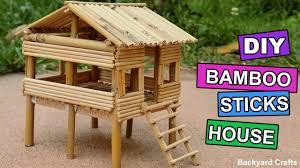 diy bamboo sticks house easy step by step backyard crafts