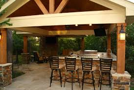 Patio Covers Houston Tx by Freestanding Patio Cover With Kitchen U0026 Fireplace In The Woodlands