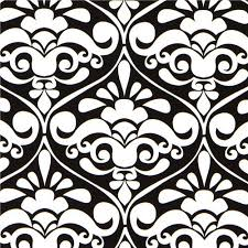 black michael miller ornament fabric damask fabric by