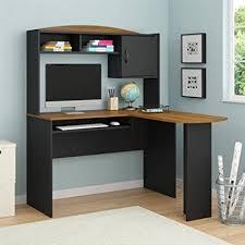 innovative computer desk with hutch black black corner computer
