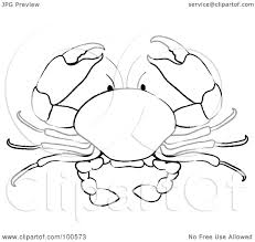 royalty free rf clipart of black and white crabs illustrations