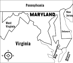 Map Of Pennsylvania And Maryland by Maryland Md State Information