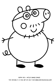daddy pig coloring pages