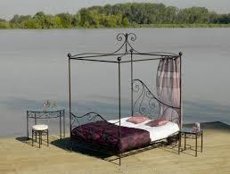fer forgé chambre coucher lit baldaquin fer forgé decor meubles