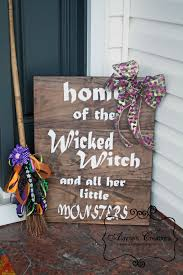 Monsters For Halloween by Diy Wooden Sign For Fall Double Sided For Halloween And