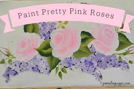 paint pretty pink roses one stroke at a time 1 jpg