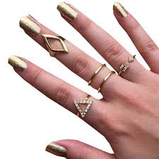 jewelry rings online images Fashion jewelry golden ring set rings for women fine jewelry jpg