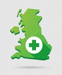 Map Icon United Kingdom Map Icon With A Pharmacy Sign U2014 Stock Vector