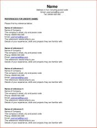 Reference Page For Resume Format 100 Reference List For Resume Template Resume How To