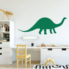 personalized dinosaur wall decal brontosaurus vinyl sticker for