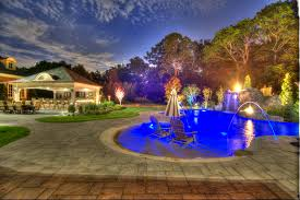 Landscape Lighting St Louis by A Magical Backyard Transformation In Smithtown Ny Using Unilock U0027s