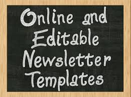 free printable monthly newsletter template for teachers