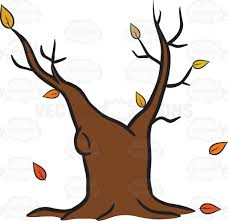 withered old tree trunk during the fall emoji cartoon clipart