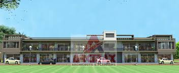 buy commercial building planning and design service above 10000 design service uptill 15000 square feet new options sri lanka commercial front final render